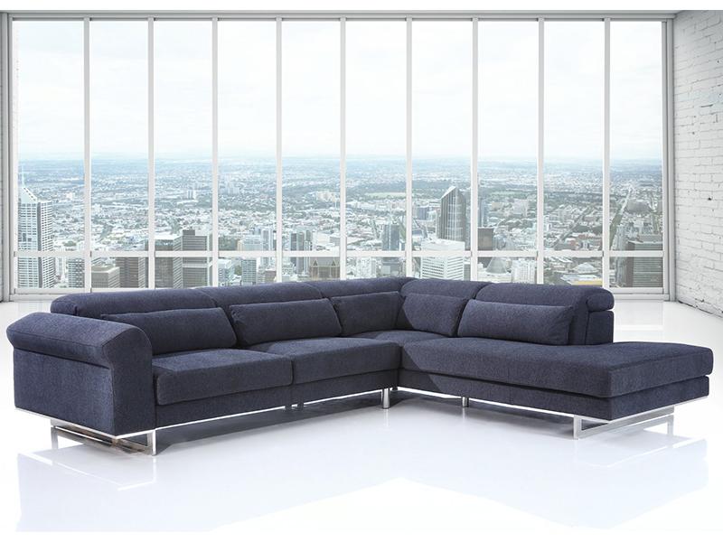 stoff ecksofa metz eckcouch wohnlandschaft von salottini. Black Bedroom Furniture Sets. Home Design Ideas