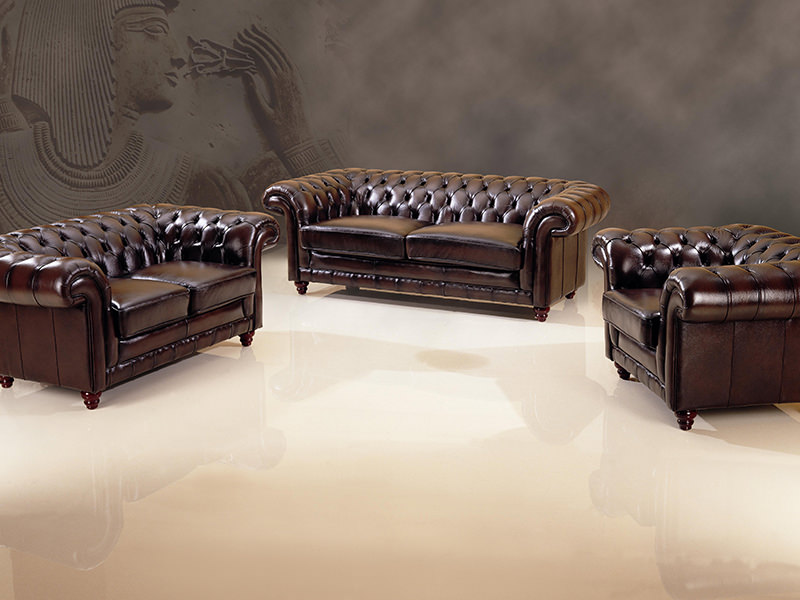 edle chesterfield sofagarnitur leder 3 2 1 glasgow polstergarnitur uvp. Black Bedroom Furniture Sets. Home Design Ideas