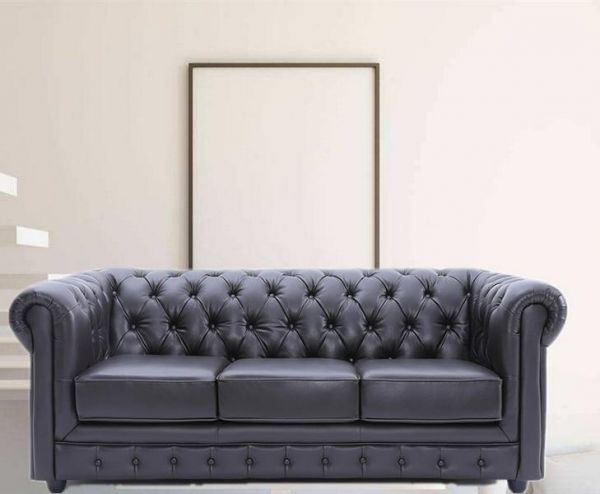 3er Chesterfield 3-Sitzer Ledersofa Sofa Couch Leandro Salottini