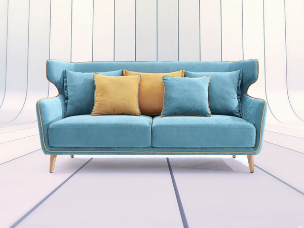 Blue sofa and Loveseat
