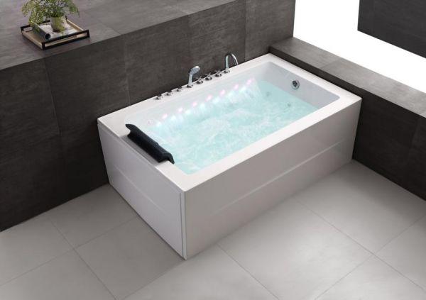 Whirlpool 180x101 Spree Badewanne Whirlwanne für 1 Personen mit Wasserfall
