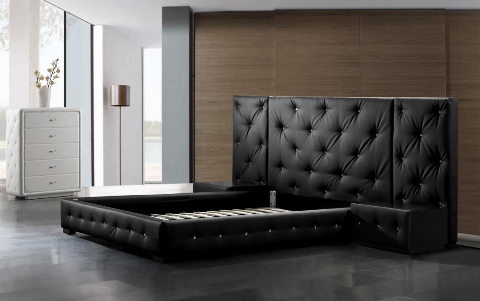designer bett 160x200 lederbett doppelbett andria von salottini wohnwelt24h wohnwelten24h. Black Bedroom Furniture Sets. Home Design Ideas