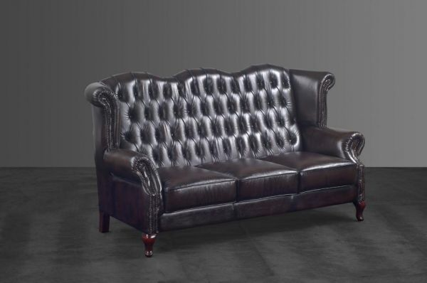 Chesterfield Sofagarnitur Milton (3/2/1 oder 3/1/1) Ledergarnitur Salottini