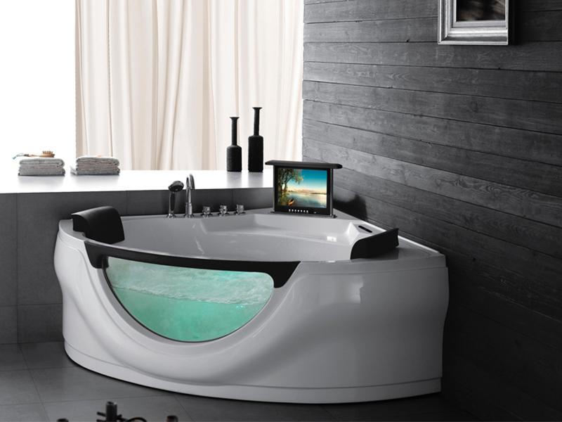 2 personen whirlpool bunbury badewanne whirlwanne mit tv. Black Bedroom Furniture Sets. Home Design Ideas