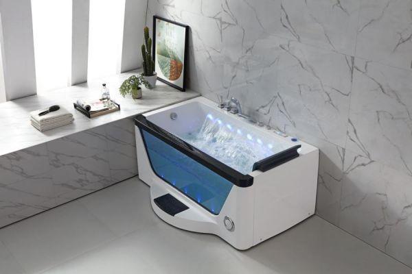 Luxus Whirlpool 170x114 Werra Badewanne Whirlwanne für 1 Person Wasserfall