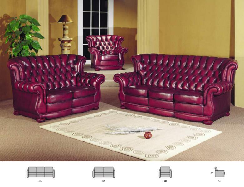 chesterfield sofagarnitur 3 2 1 coventry ledergarnitur wohnwelten24h wohnwelten24h. Black Bedroom Furniture Sets. Home Design Ideas