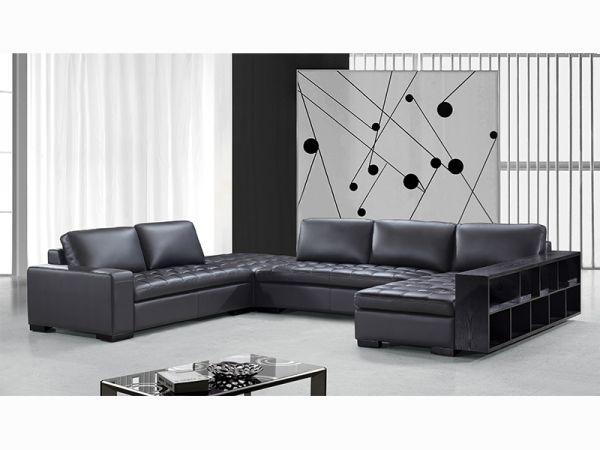 Ecksofa Remo Leder Eckcouch Sofa Wohnlandschaft von Salottini Sonderpreis