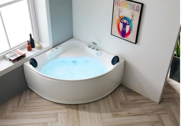 Whirlpool 140x140 Plauer 2 Personen Badewanne Whirlwanne Sonderpreis