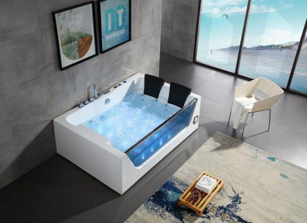 Luxus Whirlpool 180x120 Mulde Badewanne Whirlwanne für 2 Personen Sonderpreis