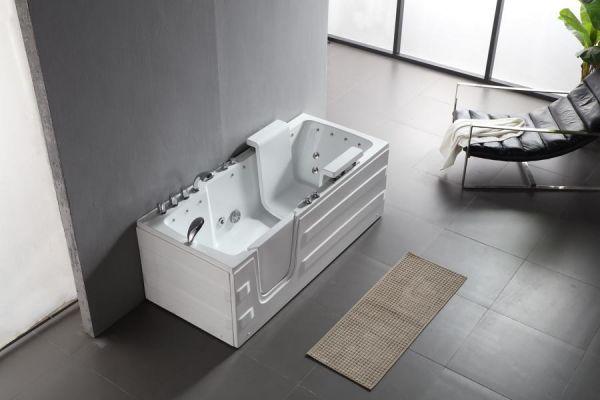 Seniorengerechter Whirlpool 170x76 Naar Senioren Badewanne mit Tür & Lift