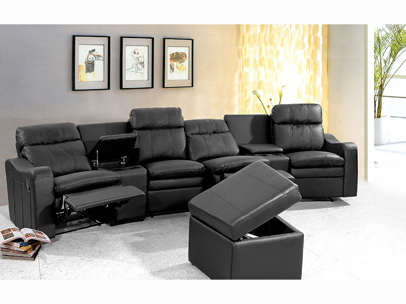 leder recliner kinosofa rundsofa philippo wohnwelten24h wohnwelten24h. Black Bedroom Furniture Sets. Home Design Ideas