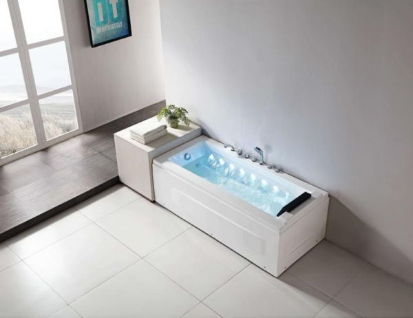 Whirlpool 175x75 Havel Badewanne Whirlwanne für 1 Personen mit Wasserfall
