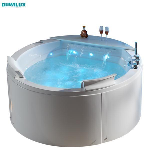 Freistehender Whirlpool 155x155 Austin Sonderpreis (mit Schürze) (WEIß)