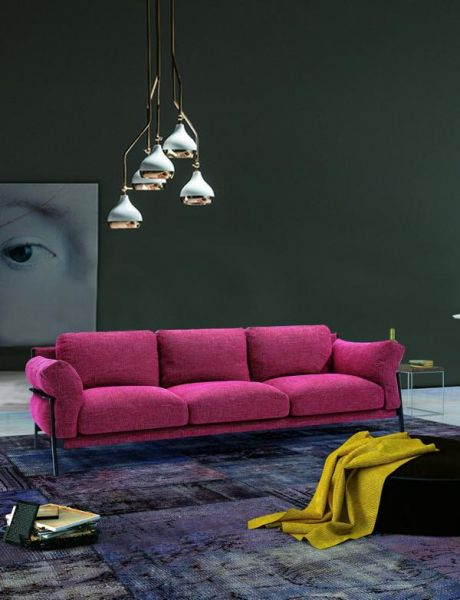 3er Stoff Sofa Couch Lea Megasofa von Salottini