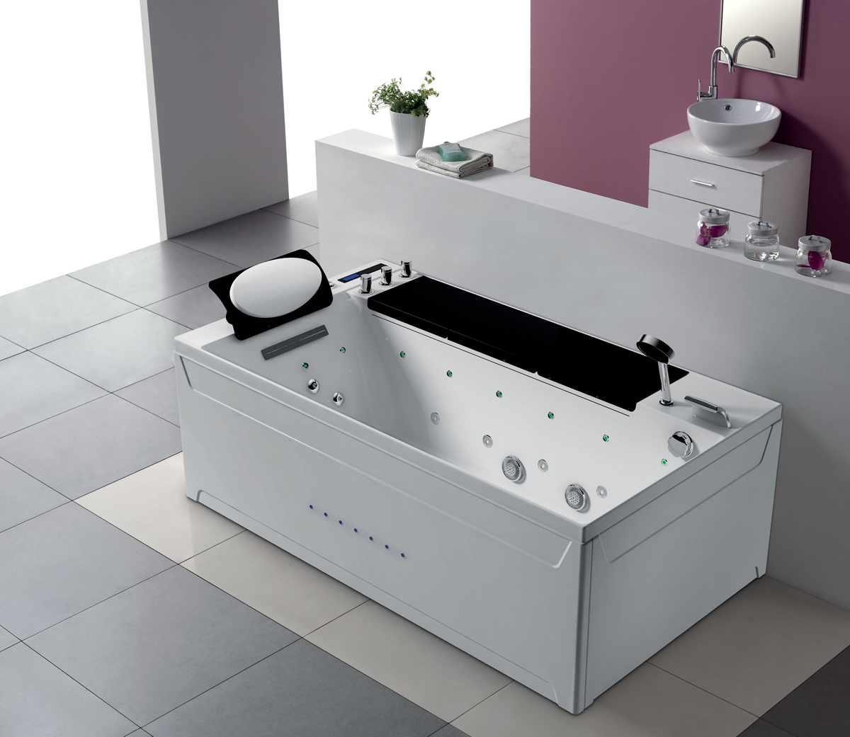 1 personen whirlpool ohio badewanne whirlwanne wasserfall. Black Bedroom Furniture Sets. Home Design Ideas