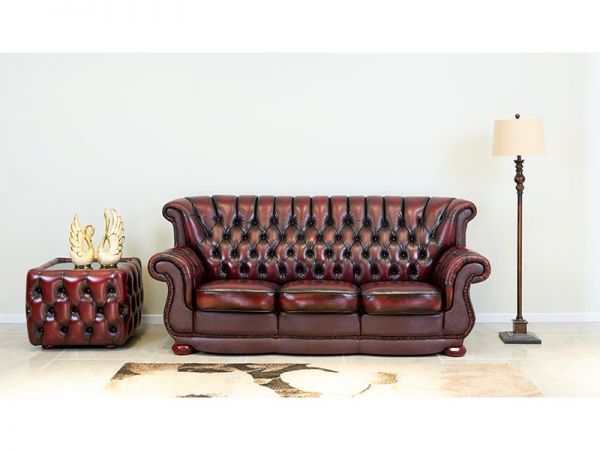 Chesterfield Sofagarnitur Coventry (3/2/1 oder 3/1/1) Ledergarnitur Salottini Sonderpreis