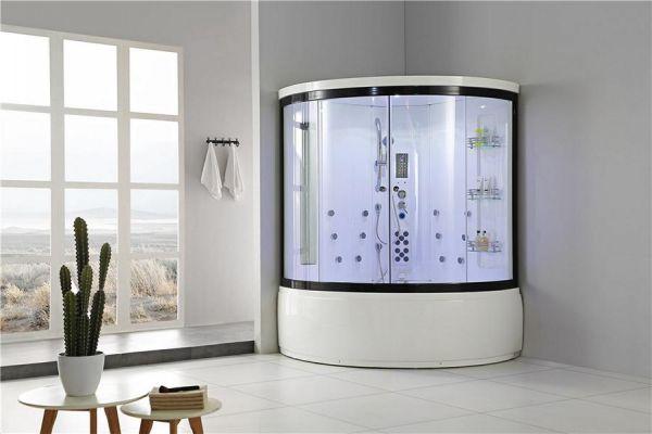 Luxus Dampfdusche Denali 151x151 mit Whirlpool Duschkabine für 2 Personen SONDERPREIS