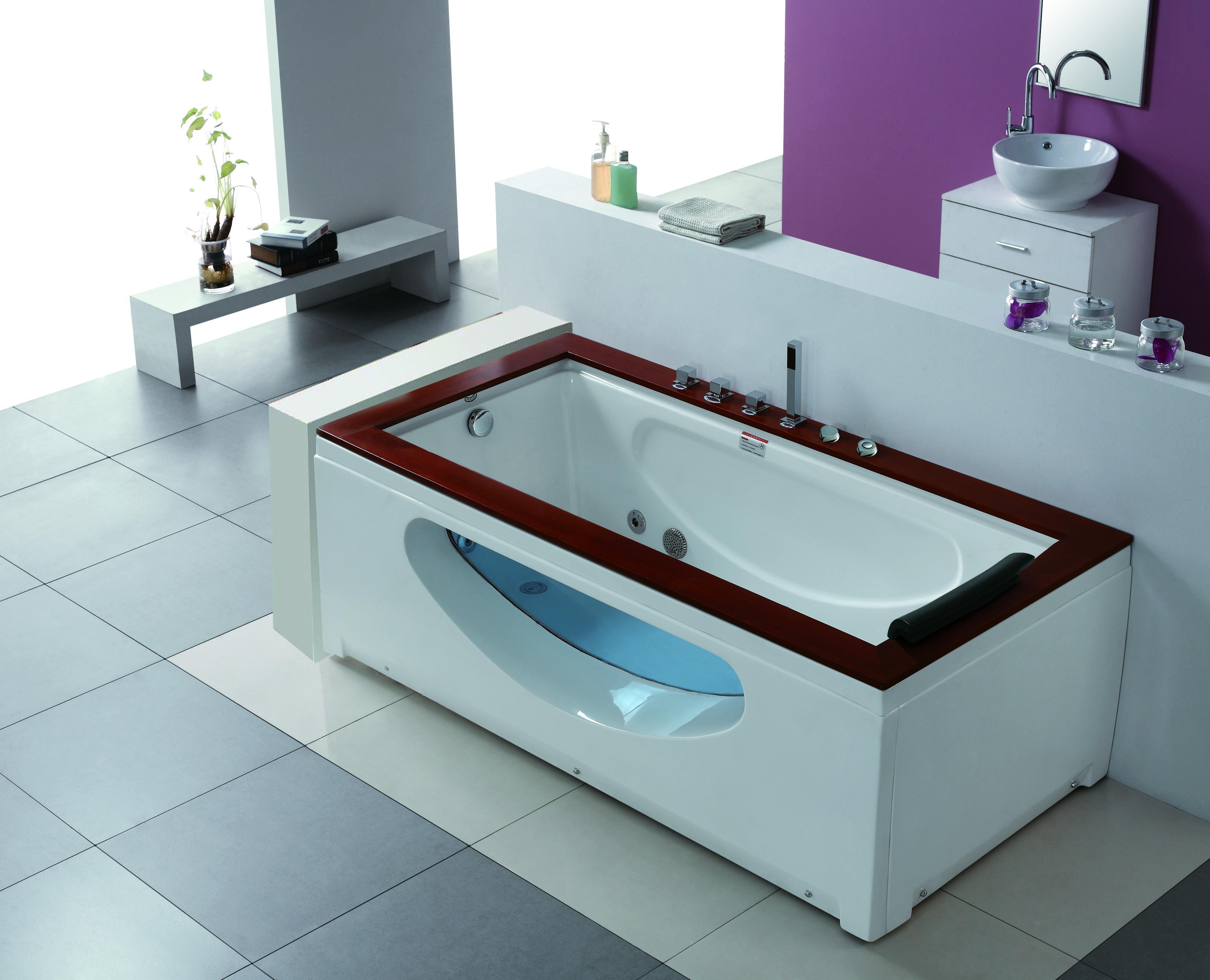 1 personen whirlpool denver badewanne whirlwanne teak. Black Bedroom Furniture Sets. Home Design Ideas