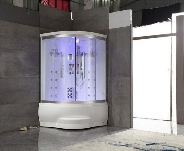Luxus Dampfdusche Kibo 123x123 mit Whirlpool Duschkabine für 1-2 Personen SONDERPREIS