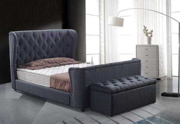 Designer Bett 160x200 Lederbett Doppelbett Varese von Salottini