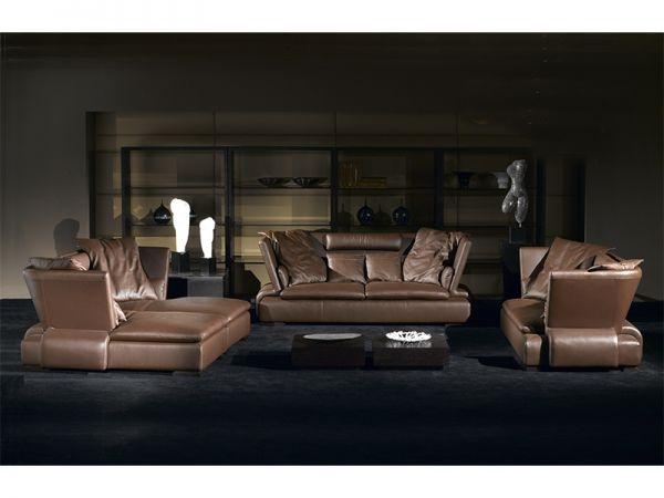 XL Luxus Sofagarnitur Natascha Doppelliege/3/2 Leder Polstergarnitur Salottini Sonderpreis