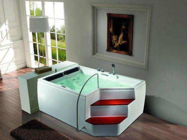 2 Pers. Whirlpool 175x120 Rockford 2 mit Treppe Badewanne Sonderpreis