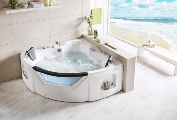 Whirlpool 154x154 Kocher Badewanne Whirlwanne für 2 Personen SONDERPREIS