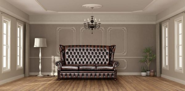 3er Sofa Chesterfield 3-Sitzer Couch Nora Deluxe Ledersofa Salottini