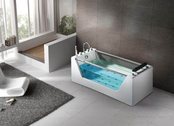 Freistehender Whirlpool 170x70 Leine Badewanne Whirlwanne für 1 Person