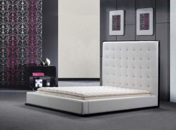 Designer Bett 180x200 Lederbett Doppelbett Novara von Salottini