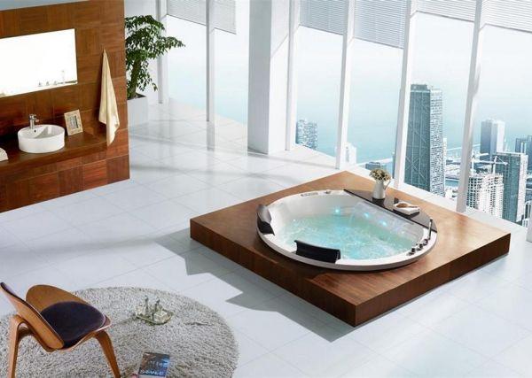 2 Pers. XL Whirlpool 170x170 Austin 2 Badewanne Marmor Sonderpreis (ohne Schürze)