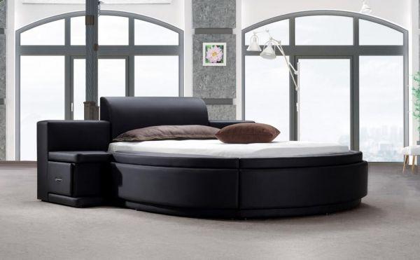 Designer Bett 160x200 Lederbett Doppelbett Cagliari von Salottini