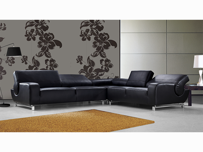 ecksofa leder schwarz affordable ecksofa leder schwarz gebraucht kaufen cor conseta designer. Black Bedroom Furniture Sets. Home Design Ideas
