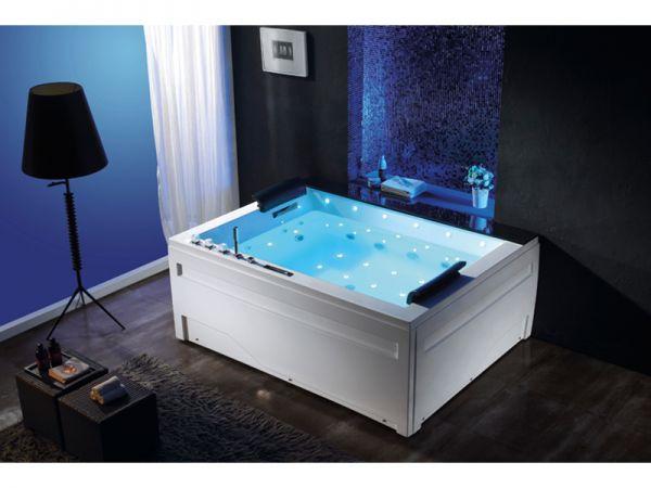 XL Whirlpool Jackson 190x150 Luxus Badewanne Marmor Vollausstattung SONDERPREIS