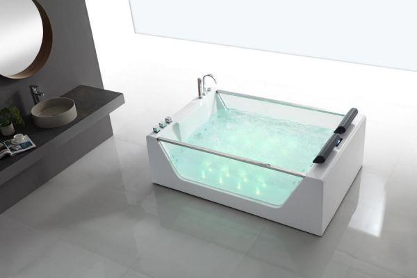Freistehender Whirlpool 180x120 Main Badewanne Whirlwanne für 2 Personen