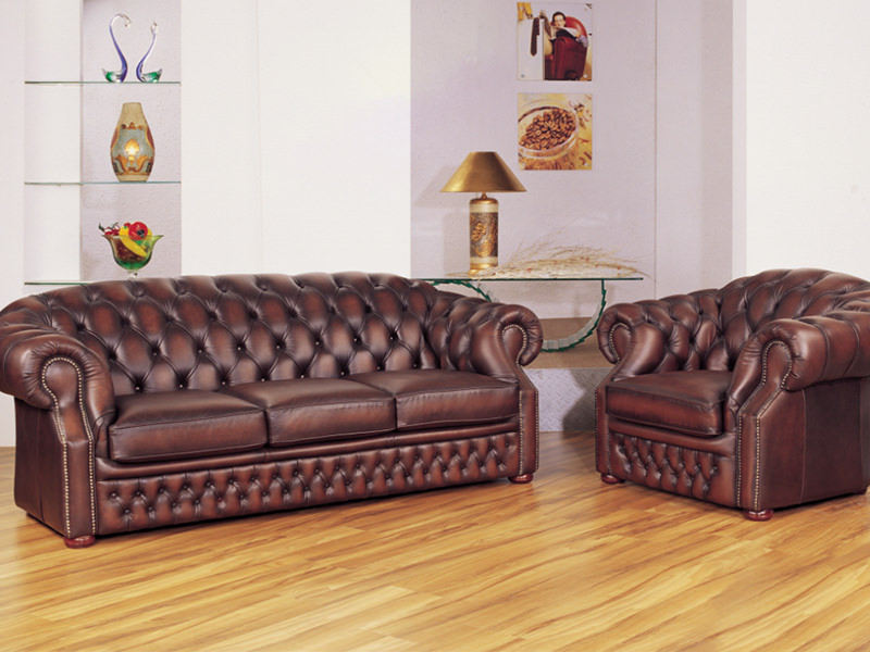 chesterfield sofagarnitur 3 2 1 cardiff ledergarnitur wohnwelten24h wohnwelten24h. Black Bedroom Furniture Sets. Home Design Ideas