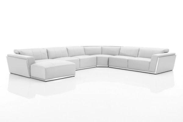 XL Ecksofa Fabiano Leder Eckcouch Sofa Wohnlandschaft von Salottini Sonderpreis