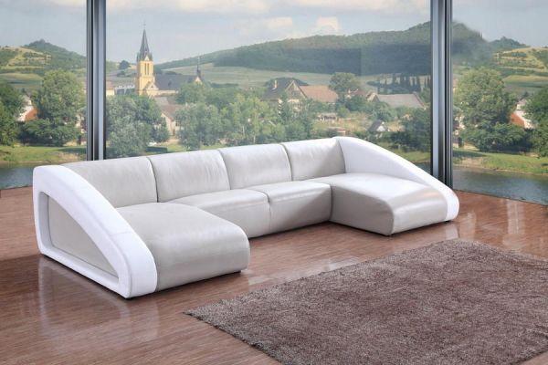 Design Ecksofa Mailand Wohnlandschaft U-Sofa Leder von Salottini