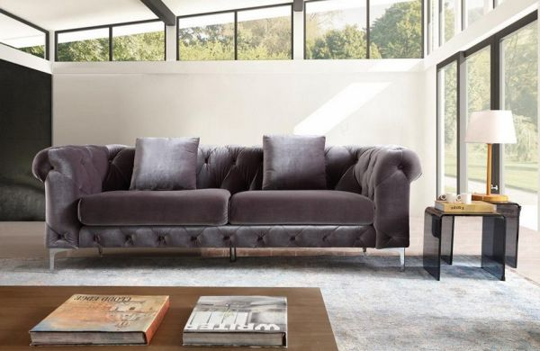 Stoff Sofagarnitur Chesterfield 3/2/1 Lilou Polstergarnitur von Salottini