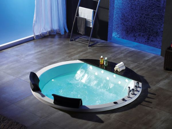 2 Pers. XL Whirlpool 170x170 Austin Badewanne Marmor Sonderpreis (ohne Schürze)