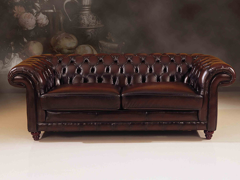3er sofa chesterfield glasgow ledersofa wohnwelten24h wohnwelten24h. Black Bedroom Furniture Sets. Home Design Ideas