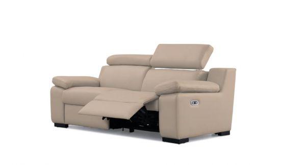 3-Sitzer Recliner Sofa Ponza Ledersofa 3er Kinosofa MIT Motor