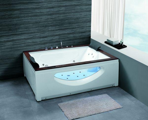 XL Whirlpool 180x150 Dubbo Badewanne Whirlwanne für 2 Personen Sonderpreis