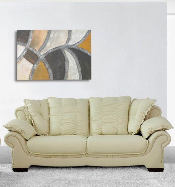 3er Ledersofa Sofa Couch Alberto Leder von Salottini