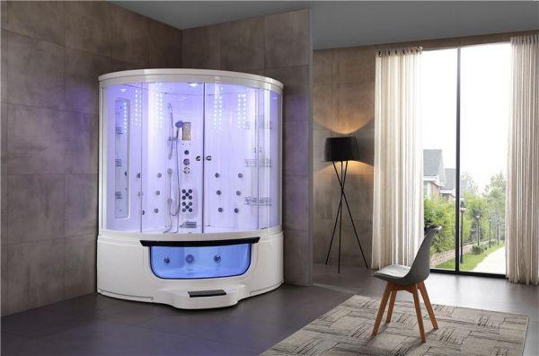 Luxus Dampfdusche Ätna 151x151 mit Whirlpool Duschkabine für 2 Personen SONDERPREIS