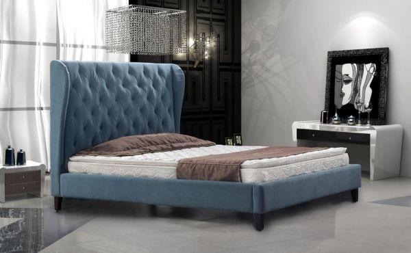 Designer Bett 160x200 Lederbett Doppelbett Gela von Salottini