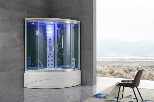Luxus Dampfdusche Sopka 135x135 mit Whirlpool Duschkabine für 1 Person SONDERPREIS