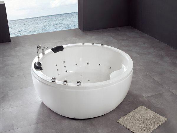 XL 2 Pers. Whirlpool Nowra 180x180 Badewanne Whirlwanne freistehend Sonderpreis